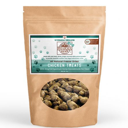 Chicken or Salmon Freeze-Dried CBD Pet Treats