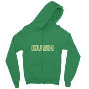 """""""Kush"""" California Fleece Zippered Hoodie"""