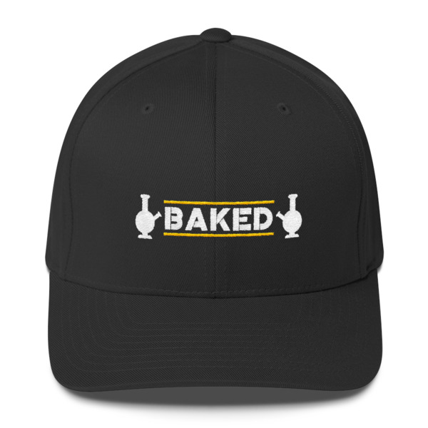 """""""Baked"""" Embroidered Structured Twill Cap"""