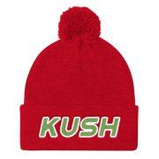 """""""Kush"""" Pom Pom Knit Cap"""