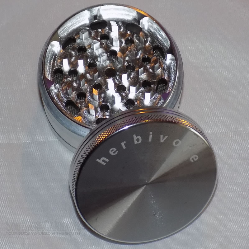 silver herb grinder